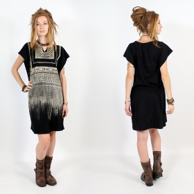 "\""Anokhi\\\"" dress, Black and gold"