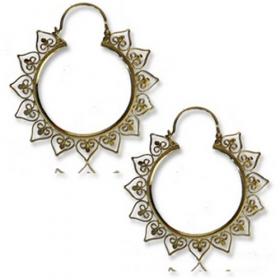 "\\\""anuva\\\"" brass earings"