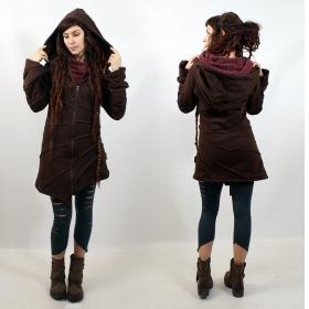 "\""Asymmetrical\"" jacket, Chocolate"