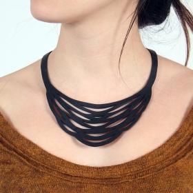 "\""Autumn\"" inner tube necklace"