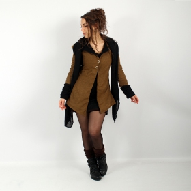 """Azmäe\"" lined jacket, Rusty and black"