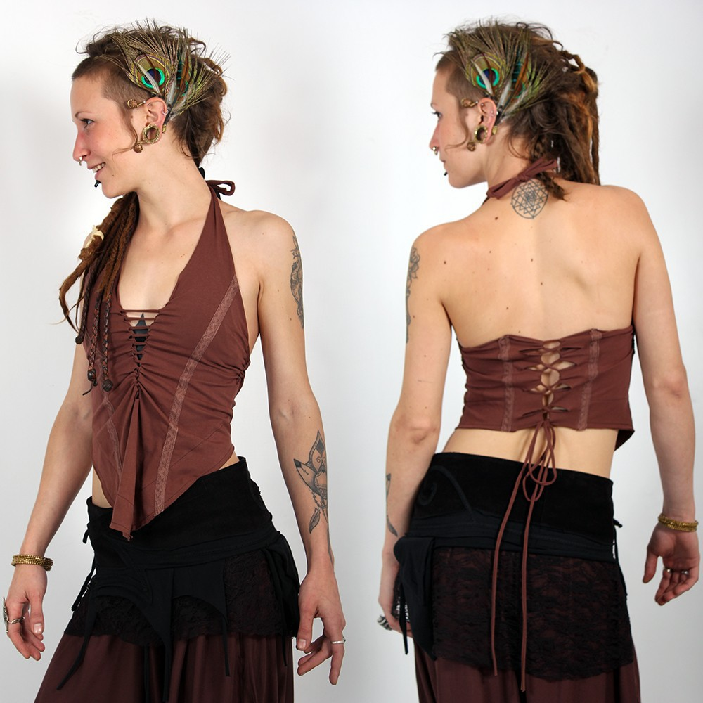 "backless ""Sukay\"", Brown"