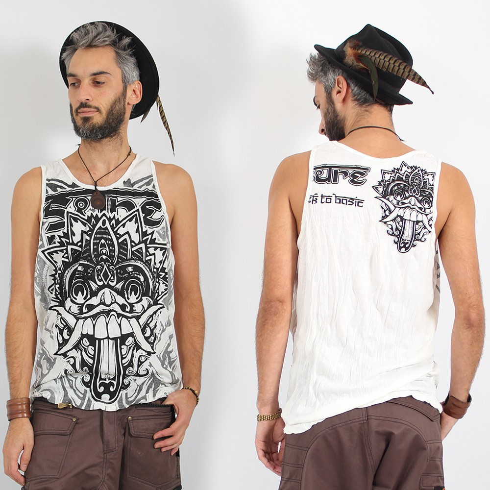 "\""Bali Dragon\\\"" tank top, White"