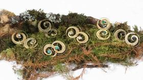 "\""Bavandar\"" earrings, Labradorite stone"