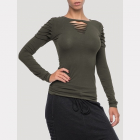 """BFB\"" long sleeved top, Khaki"