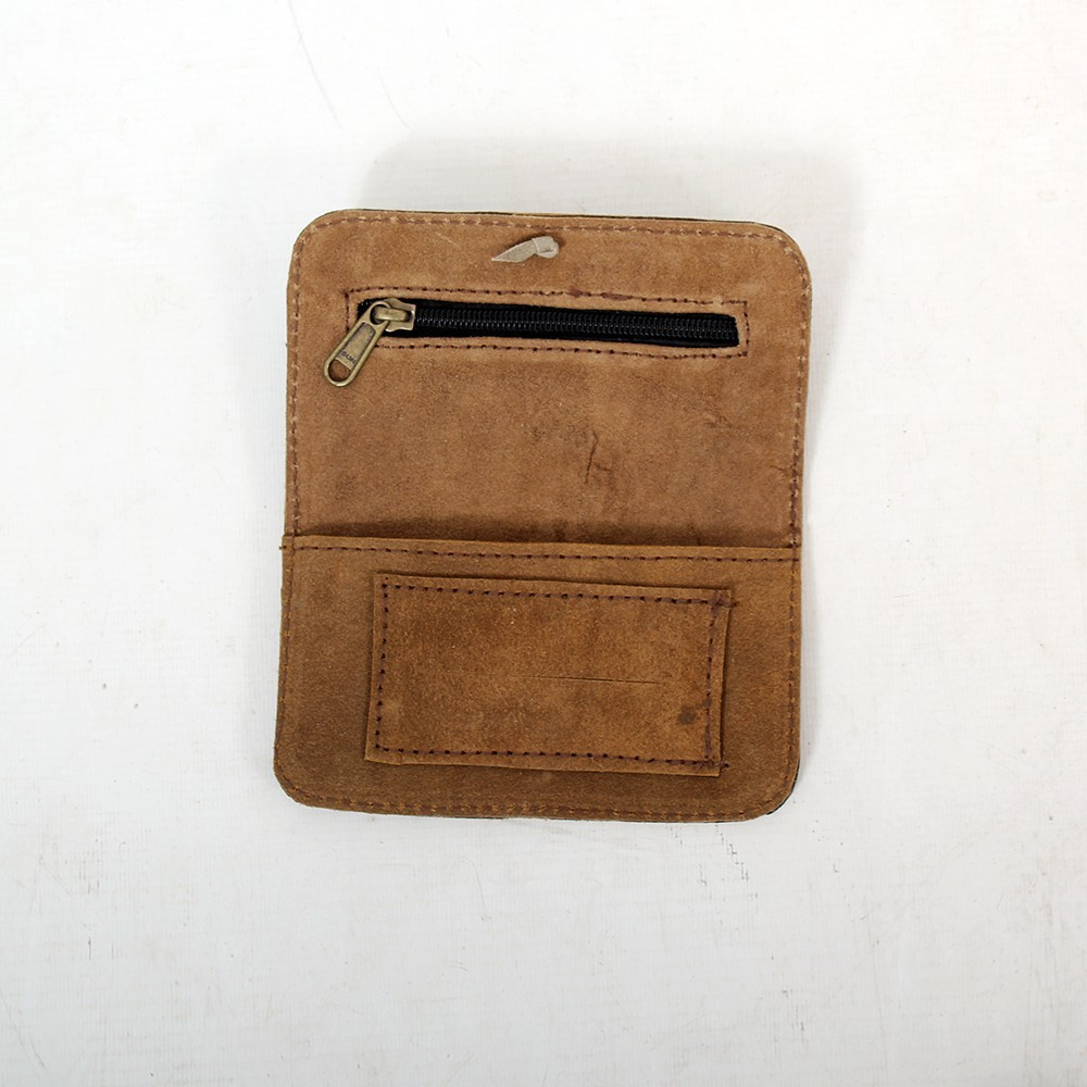 "Black leather \""Ohm\\\"" tobacco pouch"