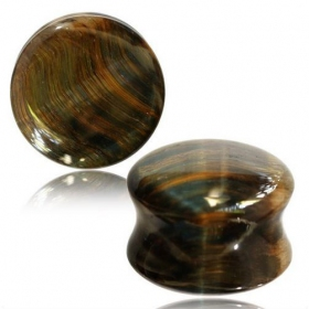 "\""Blue Tiger eye\\\"" plug"