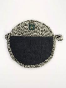 """Bolsa de hombro \""""Kalikot\"""", cáñamo y algodón negro"""
