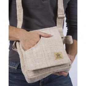 """Bolsa de hombro \""""Rukum\"""", cáñamo y algodón arena"""