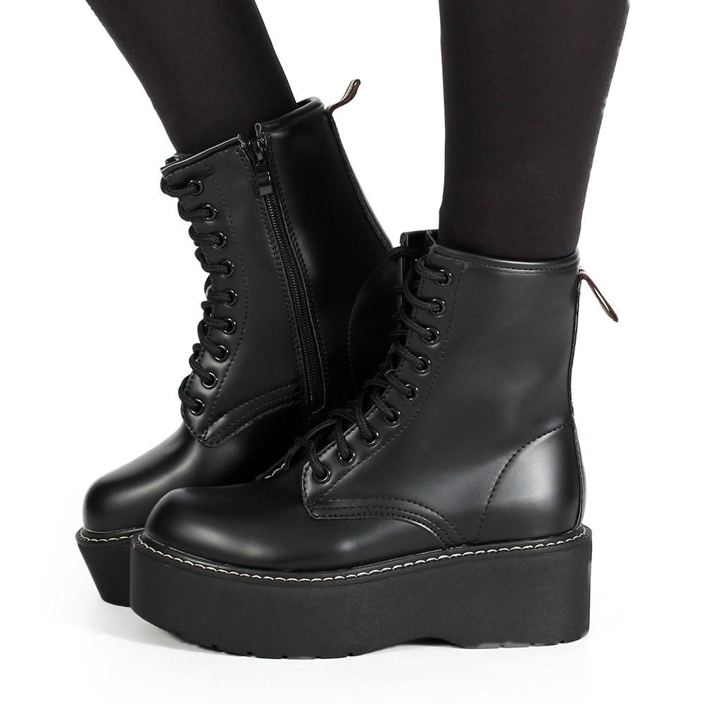 """Botas de plataforma \""""Vaea\"""", Negro"""