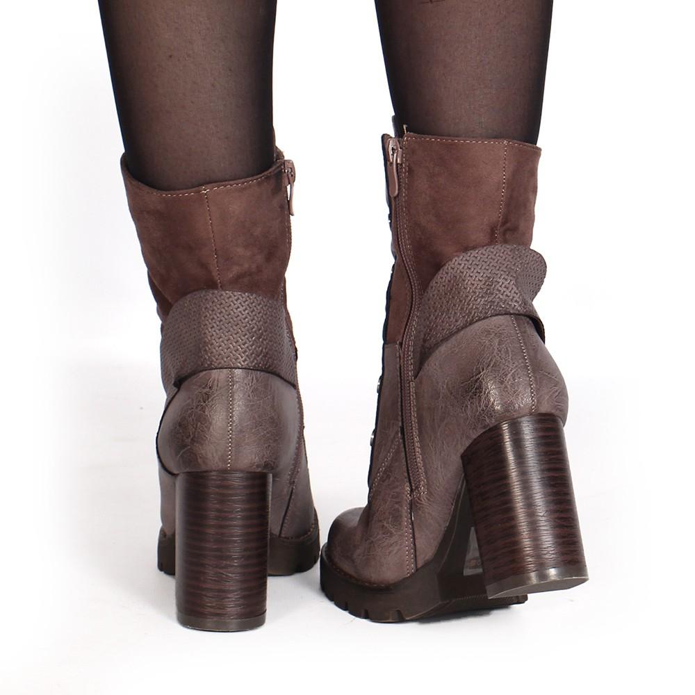 "botas de tacones \""Säadi\"", Taupe"