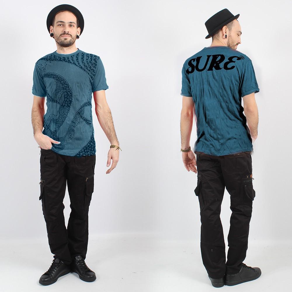 "\""Bouddha Ornement\"" t-shirt, Blue"