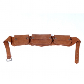 Camel leather money belt