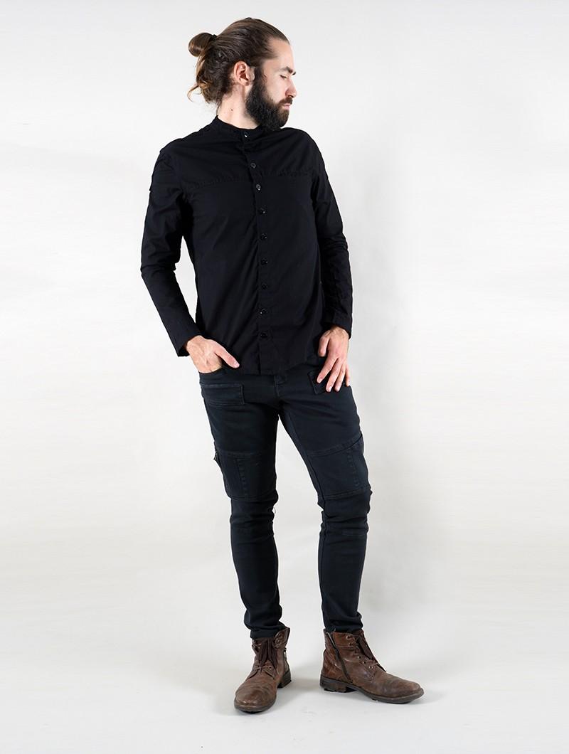 "Camisa de manga larga \""Herendil\"", Negro"