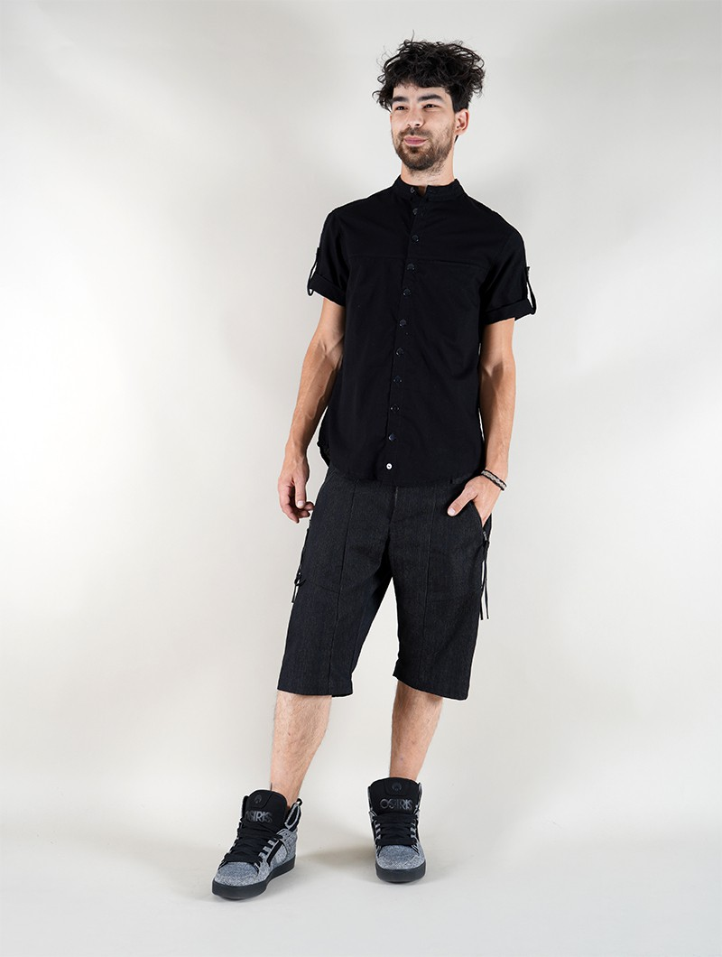 """Camisa de mangas cortas \""""Herendil\"""", Negro"""