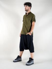 "Camisa de mangas cortas \""Herendil\"", Verde caqui"