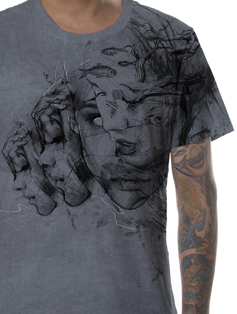 """Camiseta \""""Atlantis\"""", Gris descolorido"""