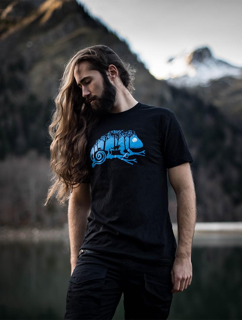 """Camiseta \""""Cameleon\"""", Negro"""