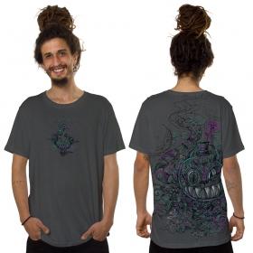 """Camiseta \""""Chester the Cat\"""", Gris oscuro jaspeado"""