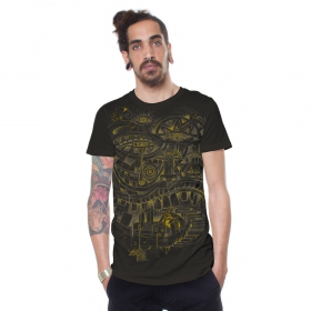 "Camiseta \""City Steps\"", Marrón oscuro"