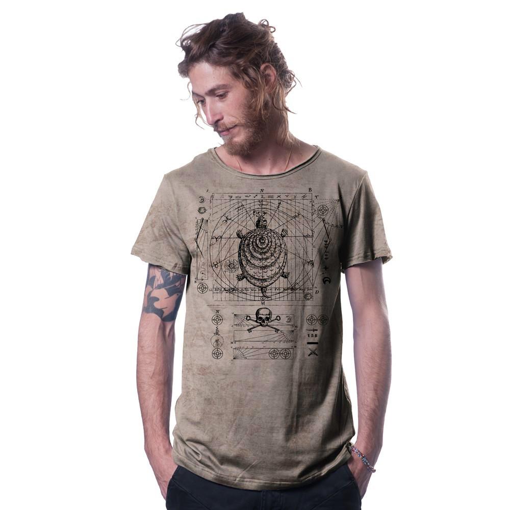 """Camiseta \""""Compas\"""", beige"""