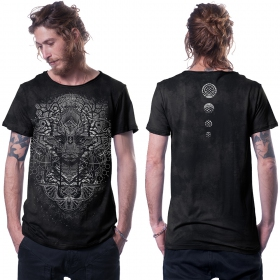 """Camiseta \""""Digital Nature\"""", Gris descolorido"""