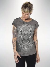 "Camiseta \""Digital Nature\"", Gris tie dye"