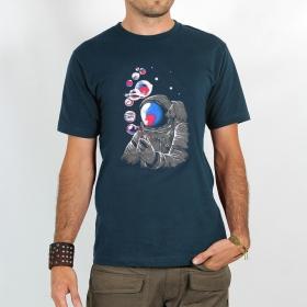 "Camiseta \""Dj Sierra Circular\"", Azul oscuro"