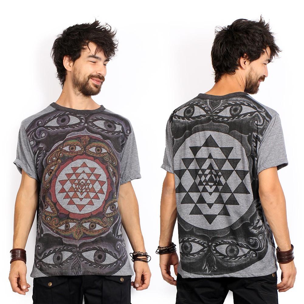 """Camiseta \""""Eyes\"""", Gris oscuro"""
