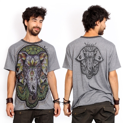 "Camiseta \""Fatma Ganesh\"", Gris oscuro"