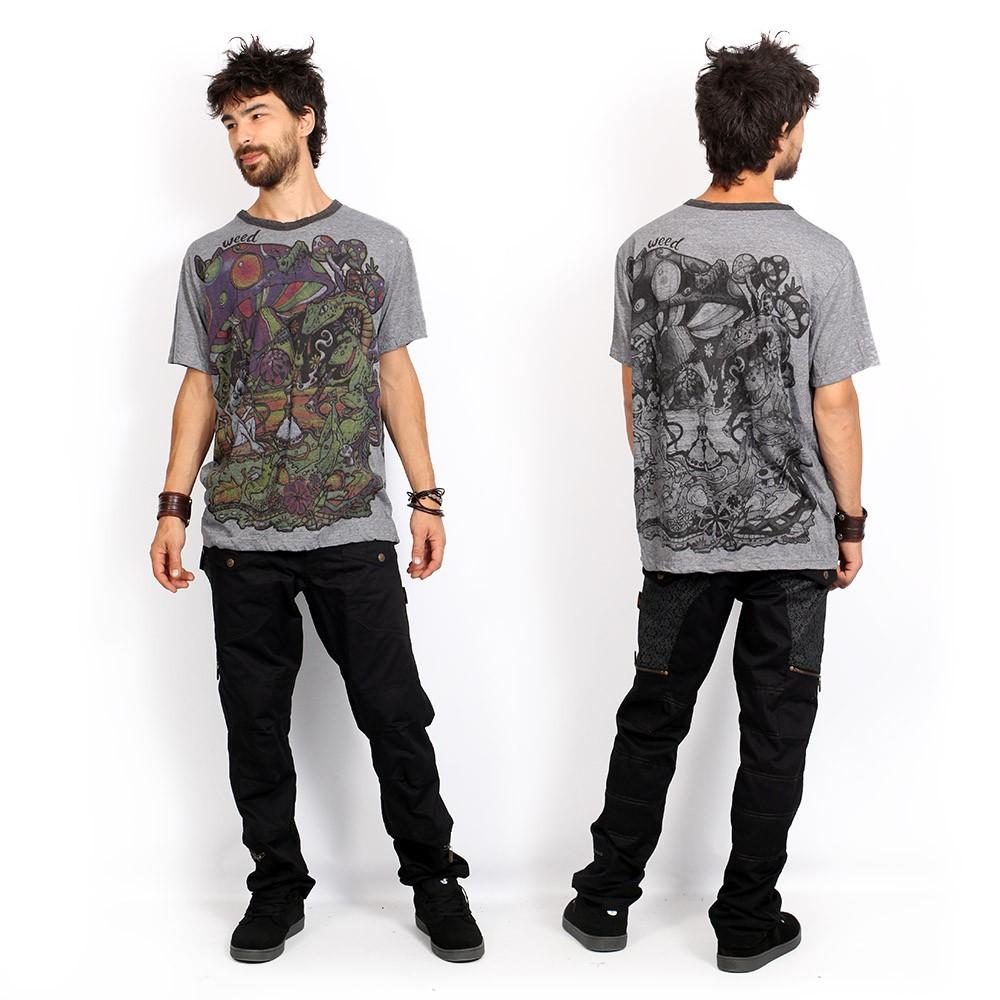 "Camiseta \""Fiesta\"", Gris oscuro"