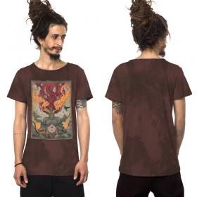 "Camiseta \""Fusion Culture\"", Burdeos descolorido"