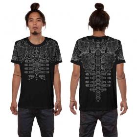 """Camiseta \""""Futura\"""", Negro"""