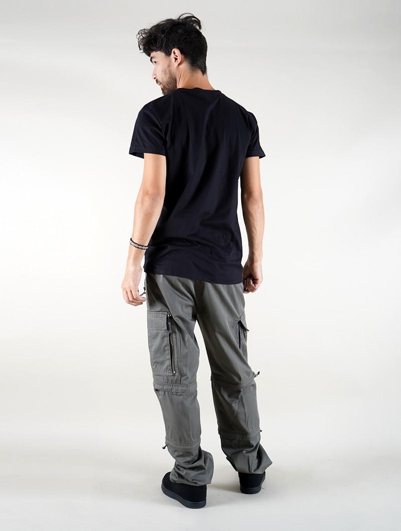 """Camiseta \""""Futurist Tierra\"""", Negro"""
