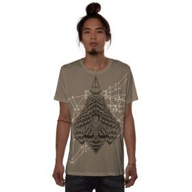 "Camiseta \""Geo Conehead\"", Beige oscuro"