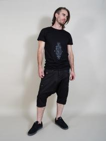 "Camiseta \""Geometric Tierra\"", Negro"