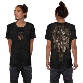 """Camiseta \""""Hanuman\"""", Negro industrial descolorido"""