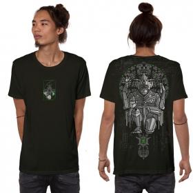 """Camiseta \""""Hanuman\"""", Verde caqui oscuro"""