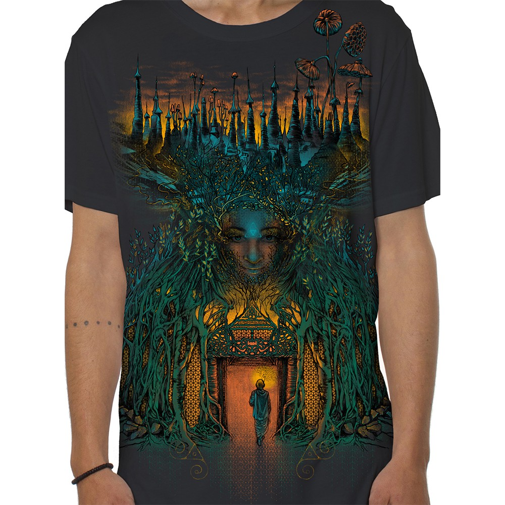 "Camiseta ""Inner Forest\"", Gris oscuro"