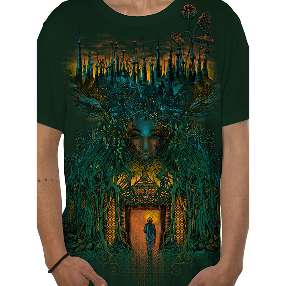 "Camiseta ""Inner Forest\"", Verde bosque"