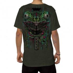"""Camiseta \""""Kambo\"""", Caqui verde descolorido"""