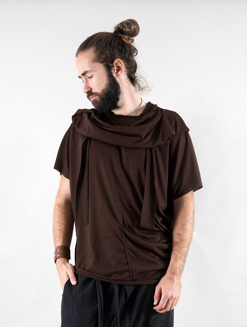 "Camiseta \""Kusumo\"", Marrón"