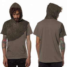 "Camiseta \""Leaf\"", Beige"