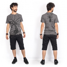 "Camiseta ""Leafless Tree\"", Gris oscuro"