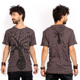 "Camiseta ""Leafless Tree\"", Marrón"