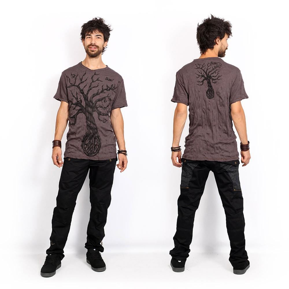 """Camiseta \""""Leafless Tree\"""", Marrón"""