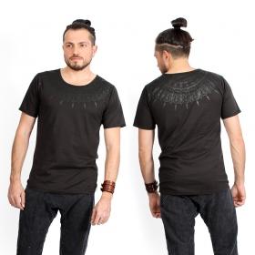 "Camiseta \""Mandala\"", Gris carbón y negro"