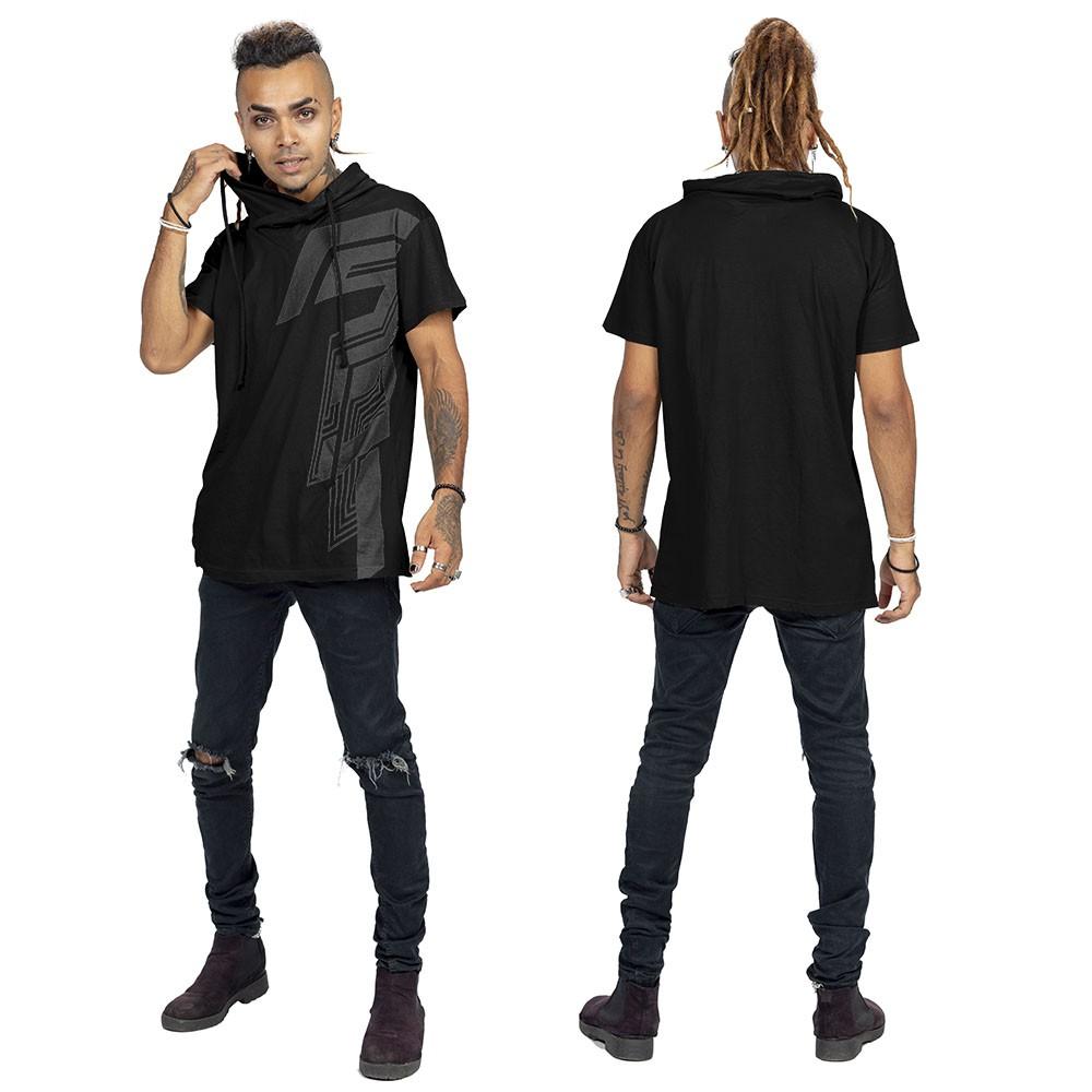 "Camiseta \""Nazca\"", Negro"