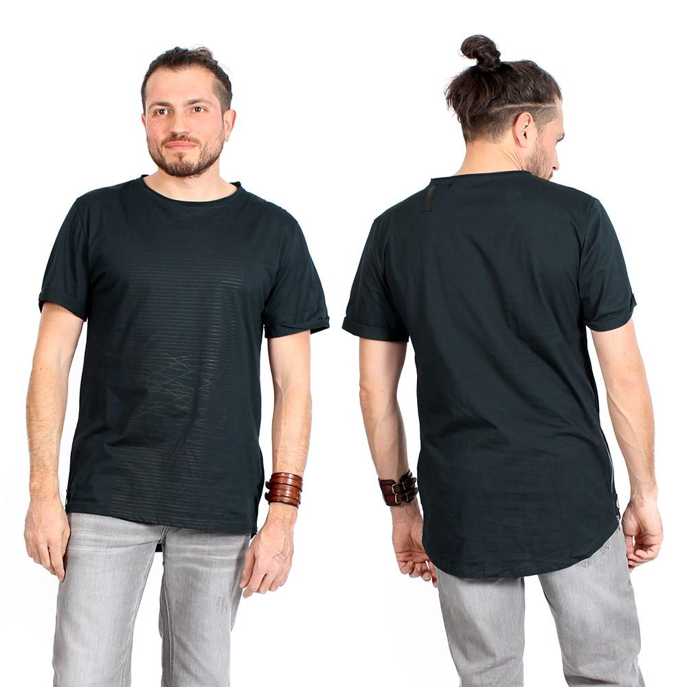 """Camiseta \""""Noah\"""", Azul petróleo y negro"""