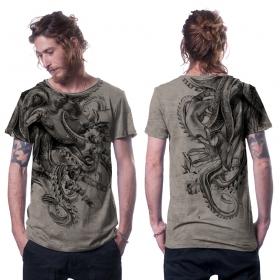 """Camiseta \""""Octan\"""", Beige jaspeado"""